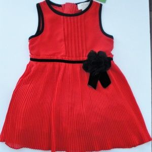Kate Spade Red Chiffon Pleated Party Dress NEW